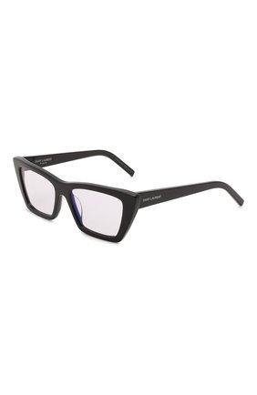 Женские солнцезащитные очки SAINT LAURENT черного цвета, арт. SL 276 MICA 025   Фото 1 (Тип очков: С/з; Очки форма: Cat-eye)