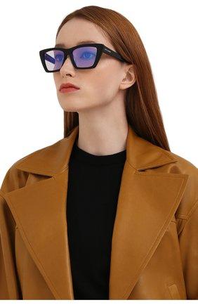 Женские солнцезащитные очки SAINT LAURENT черного цвета, арт. SL 276 MICA 025   Фото 2 (Тип очков: С/з; Очки форма: Cat-eye)