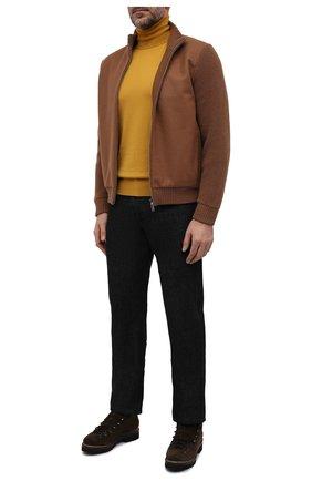 Мужские замшевые ботинки RALPH LAUREN темно-коричневого цвета, арт. 815811330 | Фото 2 (Подошва: Плоская; Мужское Кросс-КТ: Ботинки-обувь, зимние ботинки, Хайкеры-обувь; Материал утеплителя: Натуральный мех; Материал внутренний: Натуральная кожа; Материал внешний: Замша)