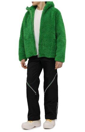 Мужские текстильные ботинки puddle bomber BOTTEGA VENETA белого цвета, арт. 667064/VBSD7 | Фото 2 (Материал внешний: Текстиль; Мужское Кросс-КТ: Ботинки-обувь; Материал внутренний: Текстиль; Подошва: Массивная)