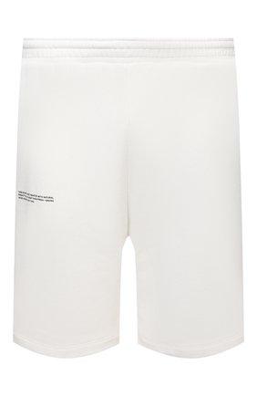 Мужского хлопковые шорты PANGAIA белого цвета, арт. 21FSU11B-111-FEM002   Фото 1 (Стили: Спорт-шик)