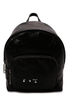Женский рюкзак OFF-WHITE черного цвета, арт. 0WNB016F21LEA001   Фото 1 (Размер: medium; Материал: Натуральная кожа; Стили: Спорт)