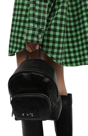 Женский рюкзак OFF-WHITE черного цвета, арт. 0WNB016F21LEA001   Фото 2 (Размер: medium; Материал: Натуральная кожа; Стили: Спорт)