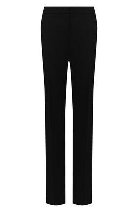 Женские шерстяные брюки JIL SANDER черного цвета, арт. JSWT305820-WT201000 | Фото 1 (Материал подклада: Вискоза; Материал внешний: Шерсть; Стили: Минимализм; Женское Кросс-КТ: Брюки-одежда; Силуэт Ж (брюки и джинсы): Прямые; Длина (брюки, джинсы): Удлиненные)