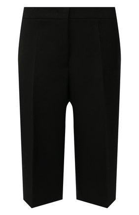Женские шерстяные шорты JIL SANDER черного цвета, арт. JSWT306113-WT201000 | Фото 1 (Материал подклада: Вискоза; Материал внешний: Шерсть; Длина Ж (юбки, платья, шорты): Миди; Стили: Минимализм; Женское Кросс-КТ: Шорты-одежда)