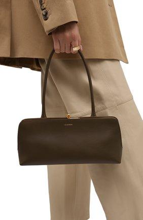 Женская сумка goji small JIL SANDER темно-коричневого цвета, арт. JSWT856460-WTB00111N | Фото 2 (Размер: small; Материал: Натуральная кожа; Сумки-технические: Сумки top-handle)