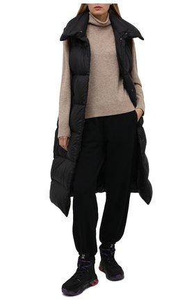 Женские комбинированные ботинки maseboot PREMIATA черного цвета, арт. MASEB00D/VAR214   Фото 2 (Материал внутренний: Натуральная кожа; Материал внешний: Текстиль; Подошва: Платформа; Женское Кросс-КТ: Хайкеры-ботинки)