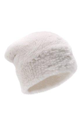 Женская шапка из меха норки KUSSENKOVV белого цвета, арт. 051750001202   Фото 1 (Материал: Натуральный мех)