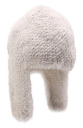 Женская шапка-ушанка из меха норки KUSSENKOVV кремвого цвета, арт. 091250012433 | Фото 1 (Материал: Натуральный мех)