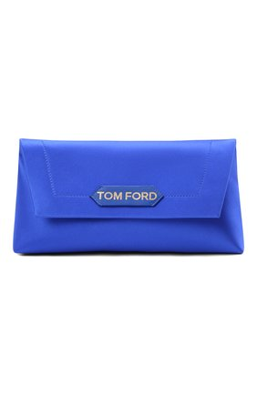 Женская сумка label small TOM FORD синего цвета, арт. L1504T-TSA005 | Фото 1 (Материал: Текстиль; Сумки-технические: Сумки top-handle; Размер: small)