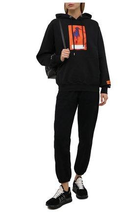 Женские комбинированные кроссовки conny PREMIATA черного цвета, арт. C0NNY/VAR5517   Фото 2 (Подошва: Платформа; Материал утеплителя: Натуральный мех; Материал внешний: Текстиль)