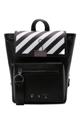 Женский рюкзак OFF-WHITE черного цвета, арт. 0WNB007F21LEA001   Фото 1 (Материал: Натуральная кожа; Размер: medium; Стили: Кэжуэл)