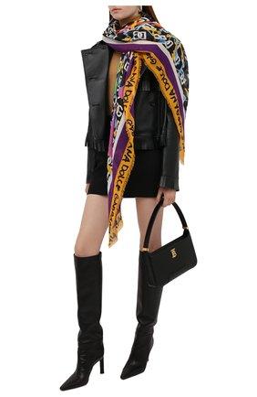 Женский платок DOLCE & GABBANA разноцветного цвета, арт. FS247A/FP3CX | Фото 2 (Материал: Текстиль; Принт: С принтом)