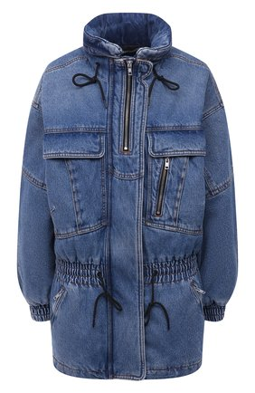 Женская джинсовая куртка DENIM X ALEXANDER WANG синего цвета, арт. 4DC4212021 | Фото 1 (Длина (верхняя одежда): До середины бедра; Материал внешний: Хлопок; Материал подклада: Синтетический материал; Рукава: Длинные; Стили: Кэжуэл; Кросс-КТ: Деним, Куртка)