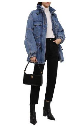 Женская джинсовая куртка DENIM X ALEXANDER WANG синего цвета, арт. 4DC4212021 | Фото 2 (Длина (верхняя одежда): До середины бедра; Материал внешний: Хлопок; Материал подклада: Синтетический материал; Рукава: Длинные; Стили: Кэжуэл; Кросс-КТ: Деним, Куртка)
