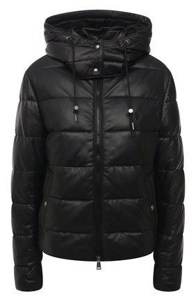 Женская кожаная куртка POLO RALPH LAUREN черного цвета, арт. 211823753 | Фото 1 (Материал подклада: Купро; Длина (верхняя одежда): Короткие; Рукава: Длинные; Стили: Спорт-шик; Женское Кросс-КТ: Замша и кожа; Кросс-КТ: Куртка)