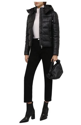 Женская кожаная куртка POLO RALPH LAUREN черного цвета, арт. 211823753 | Фото 2 (Материал подклада: Купро; Длина (верхняя одежда): Короткие; Рукава: Длинные; Стили: Спорт-шик; Женское Кросс-КТ: Замша и кожа; Кросс-КТ: Куртка)