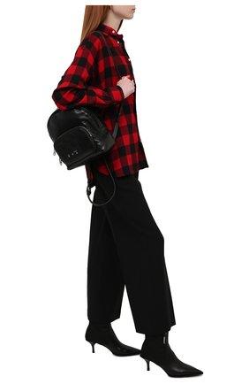 Женская хлопковая рубашка POLO RALPH LAUREN красного цвета, арт. 211846917   Фото 2 (Материал внешний: Хлопок; Длина (для топов): Удлиненные; Рукава: Длинные; Стили: Кэжуэл; Принт: С принтом; Женское Кросс-КТ: Рубашка-одежда)