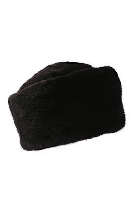 Женская шапка-кубанка из меха норки KUSSENKOVV черного цвета, арт. 062800002455   Фото 1 (Материал: Натуральный мех)