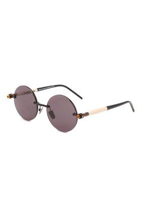 Женские солнцезащитные очки KUB0RAUM фиолетового цвета, арт. P50 BM BS GREY   Фото 1 (Тип очков: С/з; Очки форма: Круглые; Оптика Гендер: оптика-унисекс)