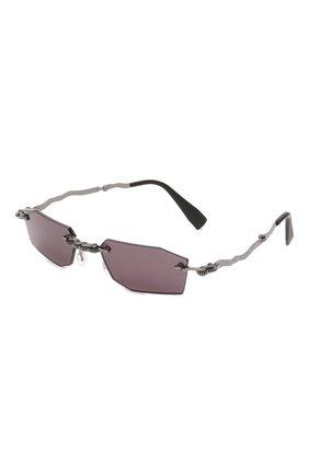Женские солнцезащитные очки KUB0RAUM фиолетового цвета, арт. H40 BB GREY   Фото 1 (Тип очков: С/з; Оптика Гендер: оптика-унисекс; Очки форма: Прямоугольные)