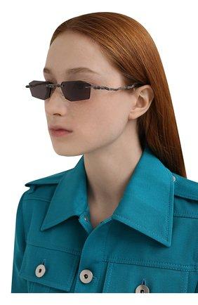 Женские солнцезащитные очки KUB0RAUM фиолетового цвета, арт. H40 BB GREY   Фото 2 (Тип очков: С/з; Оптика Гендер: оптика-унисекс; Очки форма: Прямоугольные)
