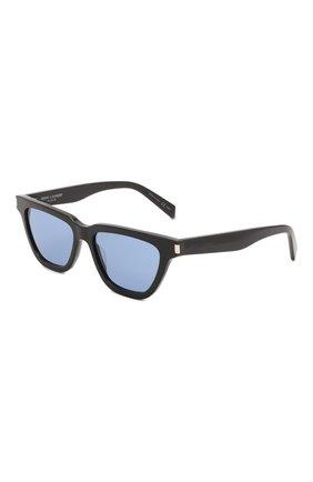 Женские солнцезащитные очки SAINT LAURENT черного цвета, арт. SL 462 SULPICE 010   Фото 1 (Тип очков: С/з; Оптика Гендер: оптика-унисекс; Очки форма: Квадратные)