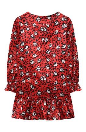 Детское платье MARC JACOBS (THE) красного цвета, арт. W12390   Фото 2 (Материал внешний: Синтетический материал; Рукава: Длинные; Девочки Кросс-КТ: Платье-одежда; Случай: Повседневный)
