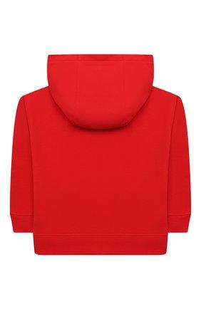 Детский хлопковая толстовка MARC JACOBS (THE) красного цвета, арт. W25501   Фото 2 (Рукава: Длинные; Материал внешний: Хлопок; Мальчики Кросс-КТ: Толстовка-одежда)