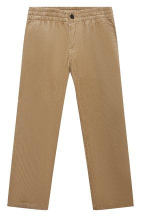 Детские хлопковые брюки POLO RALPH LAUREN бежевого цвета, арт. 323851593 | Фото 1 (Материал внешний: Хлопок; Мальчики Кросс-КТ: Брюки-одежда)