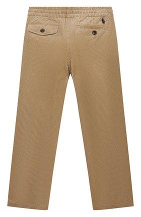Детские хлопковые брюки POLO RALPH LAUREN бежевого цвета, арт. 323851593 | Фото 2 (Материал внешний: Хлопок; Мальчики Кросс-КТ: Брюки-одежда)