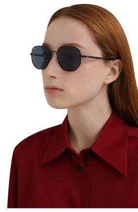 Женские солнцезащитные очки RAY-BAN синего цвета, арт. 3682-002/80 | Фото 2 (Тип очков: С/з; Очки форма: Круглые; Оптика Гендер: оптика-унисекс)