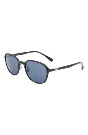 Женские солнцезащитные очки RAY-BAN синего цвета, арт. 4341-601S80 | Фото 1 (Тип очков: С/з; Очки форма: Квадратные; Оптика Гендер: оптика-унисекс)