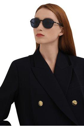 Женские солнцезащитные очки RAY-BAN синего цвета, арт. 4341-601S80 | Фото 2 (Тип очков: С/з; Очки форма: Квадратные; Оптика Гендер: оптика-унисекс)