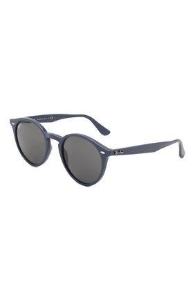 Женские солнцезащитные очки RAY-BAN синего цвета, арт. 2180-657687 | Фото 1 (Тип очков: С/з; Очки форма: Круглые; Оптика Гендер: оптика-унисекс)