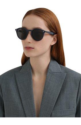 Женские солнцезащитные очки RAY-BAN синего цвета, арт. 2180-657687 | Фото 2 (Тип очков: С/з; Очки форма: Круглые; Оптика Гендер: оптика-унисекс)
