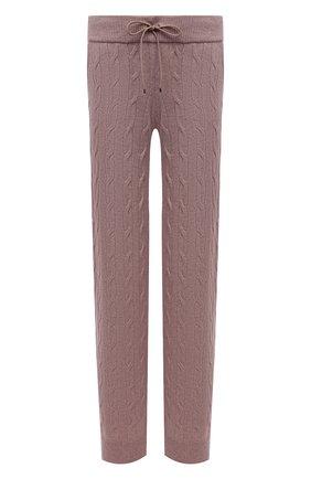 Женские кашемировые брюки RALPH LAUREN светло-розового цвета, арт. 290845520   Фото 1 (Материал внешний: Шерсть, Кашемир; Стили: Кэжуэл; Кросс-КТ: Трикотаж; Женское Кросс-КТ: Брюки-одежда; Силуэт Ж (брюки и джинсы): Широкие; Длина (брюки, джинсы): Стандартные)