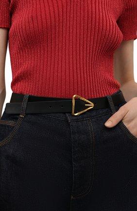 Женский кожаный ремень BOTTEGA VENETA черного цвета, арт. 679476/VMAU3 | Фото 2