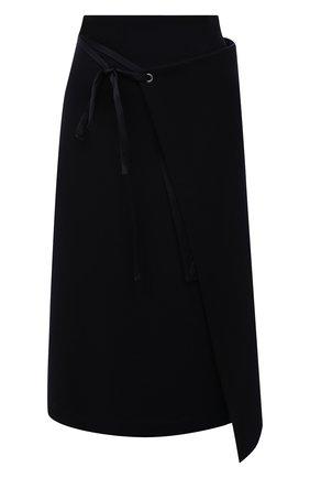 Женская шерстяная юбка JIL SANDER темно-синего цвета, арт. JSWT720314-WT207908B   Фото 1 (Длина Ж (юбки, платья, шорты): Миди; Материал внешний: Шерсть; Стили: Минимализм; Женское Кросс-КТ: Юбка-одежда)