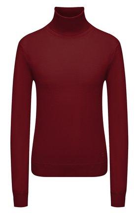 Женская шерстяная водолазка JIL SANDER бордового цвета, арт. JSWT753301-WTY20158 | Фото 1 (Материал внешний: Шерсть; Длина (для топов): Стандартные; Рукава: Длинные; Стили: Минимализм; Женское Кросс-КТ: Водолазка-одежда)