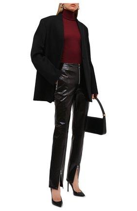 Женская шерстяная водолазка JIL SANDER бордового цвета, арт. JSWT753301-WTY20158 | Фото 2 (Материал внешний: Шерсть; Длина (для топов): Стандартные; Рукава: Длинные; Стили: Минимализм; Женское Кросс-КТ: Водолазка-одежда)