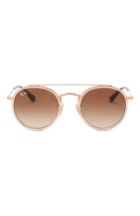 Детские солнцезащитные очки RAY-BAN коричневого цвета, арт. 9647S-288/13 | Фото 2