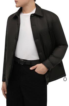 Мужской ремень BOSS черного цвета, арт. 50386525 | Фото 2 (Материал: Синтетический материал, Резина, Текстиль; Случай: Повседневный)