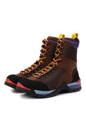 Мужские комбинированные ботинки bally hike BALLY коричневого цвета, арт. BHM001-T/32 | Фото 1 (Подошва: Плоская; Материал внешний: Текстиль; Материал внутренний: Текстиль; Мужское Кросс-КТ: Ботинки-обувь, Хайкеры-обувь)
