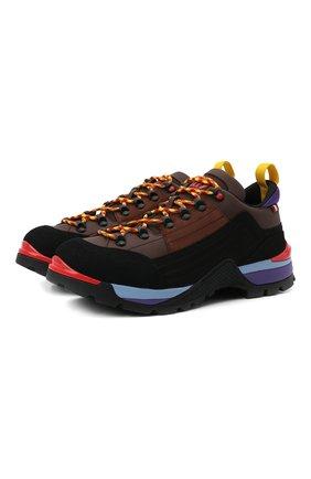Мужские комбинированные ботинки bally hike BALLY коричневого цвета, арт. BHM002/22 | Фото 1 (Материал внутренний: Текстиль; Подошва: Массивная; Мужское Кросс-КТ: Ботинки-обувь, Хайкеры-обувь)