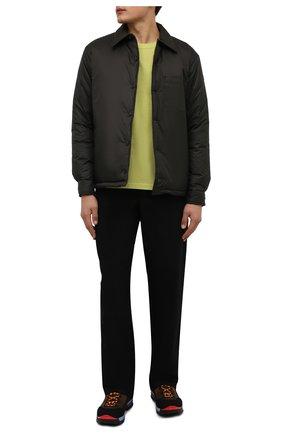 Мужские комбинированные ботинки bally hike BALLY коричневого цвета, арт. BHM002/22 | Фото 2 (Материал внутренний: Текстиль; Подошва: Массивная; Мужское Кросс-КТ: Ботинки-обувь, Хайкеры-обувь)