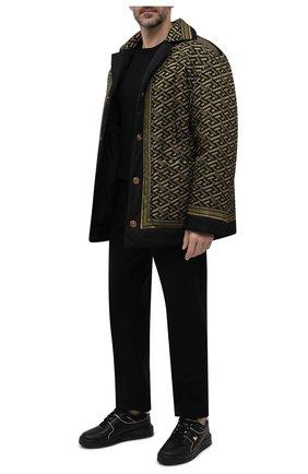 Мужские кожаные кеды one stud VALENTINO черного цвета, арт. WY0S0E71/RUS   Фото 2 (Материал внутренний: Текстиль, Натуральная кожа; Подошва: Массивная)