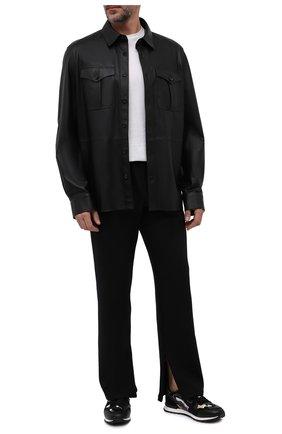 Мужские комбинированные кроссовки rockrunner VALENTINO черного цвета, арт. WY0S0723/GYE   Фото 2 (Подошва: Массивная; Материал внутренний: Текстиль; Стили: Гранж)