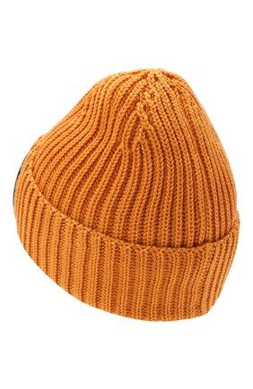 Мужская шерстяная шапка C.P. COMPANY оранжевого цвета, арт. 11CMAC122A-005509A | Фото 2 (Материал: Шерсть; Кросс-КТ: Трикотаж)