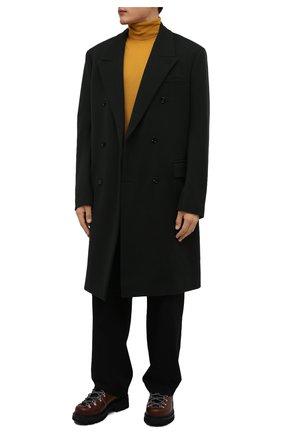 Мужские кожаные ботинки DSQUARED2 коричневого цвета, арт. ABM0088 12900358 | Фото 2 (Материал внутренний: Натуральная кожа; Подошва: Массивная; Каблук высота: Высокий; Мужское Кросс-КТ: Ботинки-обувь, Хайкеры-обувь)